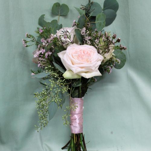 Blush Garden Rose Bridesmaid Bouquet