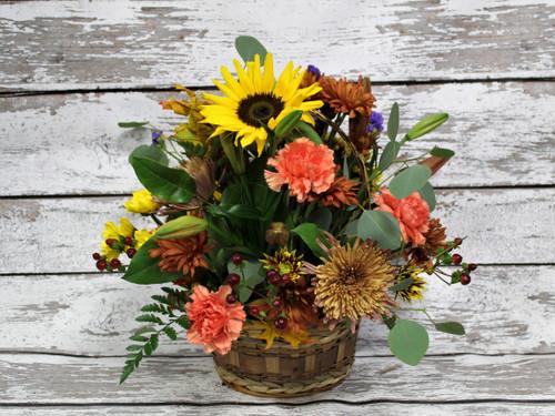 All Things Fall Basket Arrangement