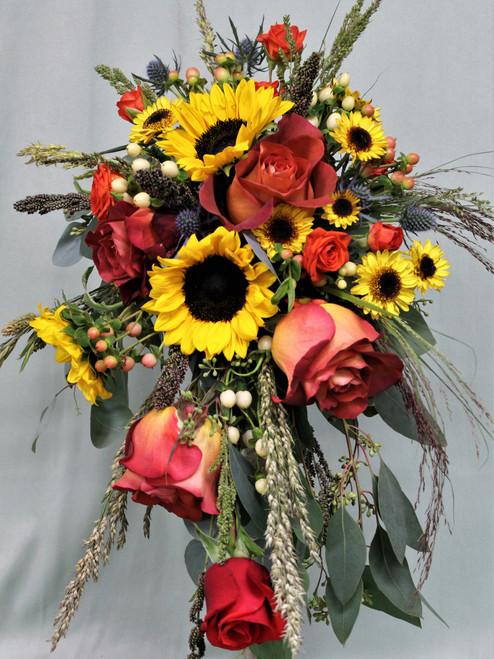 All The Fall Cascade Bridal Bouquet