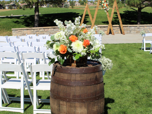 Orange and White Wine Barrel Baskets