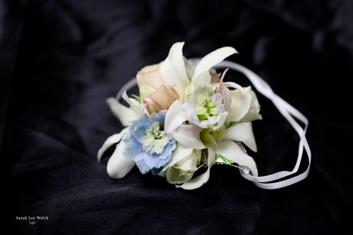 Hint of Baby Blue Corsage