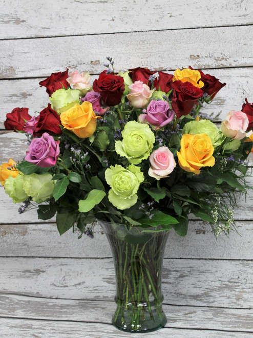 4 Dozen Mixed Colored Roses