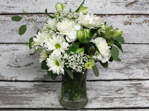 Small All White Vase Arrangement