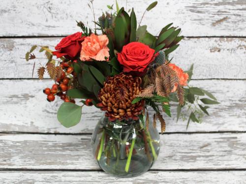 Fall Garden Vase Arrangement