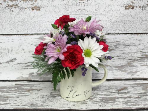 PS I Love You  Mug Arrangement