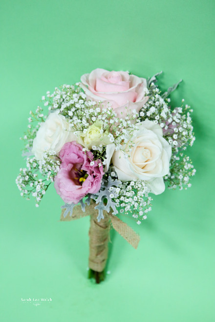Pink and White Rose Bridesmaids Bouquet