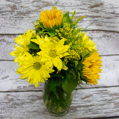 Yellow Pick Me Up Vase Arrangement