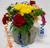 Birthday Bowl Vase Arrangement