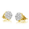 10k Yellow Gold 1.00ct Diamond Stud Earrings