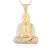 10k Yellow Gold 3.43ct Diamond Buddha Pendant