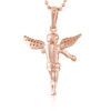 10k Rose Gold 1.25ct Diamond Angel Pendant