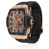 Hublot Spirit of Big Bang 18K King Gold Watch Side View of Band Bezel Crown Gold Black