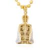 10k Yellow Gold .85ct Diamond Buddha Pendant