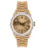 Rolex Lady-DateJust 18k Yellow Gold President 2ct Diamond Automatic Women's Watch