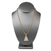 10k Yellow Gold 1.00ct Diamond Buddha Pendant