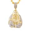 10k Yellow Gold 1.05ct Diamond Buddha Pendant