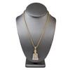 10k Yellow Gold 2.00ct Diamond Buddha Pendant