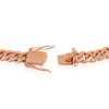 14k Rose Gold 9mm Miami Cuban Link Chain 30in Clasp Close Up