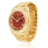 Rolex Day-Date II 18K Yellow Gold President Red Dial Automatic Men's Watch