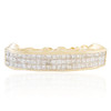 14K Yellow Gold Custom 3.25 Diamond Top 6 Grill