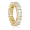 14K Yellow Gold 7ct Baguette Diamond Eternity Band