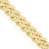 10K Yellow Gold 10.18ct Diamond Cuban Link Bracelet