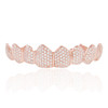 14K Rose Gold Custom 4ct Diamond Top 8 Grill
