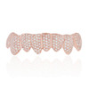 14K Rose Gold Custom 4ct Diamond Bottom 8 Grill