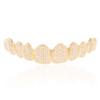 10K Yellow Gold Custom 5ct Diamond Top 10 Grill