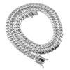 10k White Gold 10.5mm Miami Cuban Link Chain 27in
