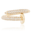 14K Yellow Gold .50ct Diamond Nail Ring Front