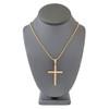14k Yellow Gold 2.00ct Large Cross Pendant