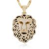 14k Yellow Gold 7ct Diamond Lion Pendant