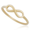 10K Yellow Gold Infinity Ring Front