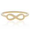 10K Yellow Gold Infinity Ring Front Flat