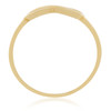 10K Yellow Gold Infinity Ring Standing