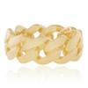 10K Yellow Gold Cuban Link Ring 7mm