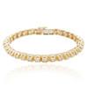 14k Yellow Gold 6.67ct Diamond Prong Set Bracelet