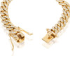 10K Yellow Gold 6.93ct Diamond Cuban Link Bracelet