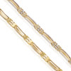 14k Two-Tone Solid Gold Bracelet Up Close