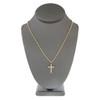 10k Yellow Gold .21ct Diamond Cross Pendant