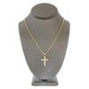 10k Yellow Gold .30ct Diamond  Cross Pendant