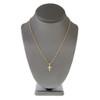 14k Yellow Gold .15ct Diamond Micro Cross Pendant