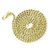 14k Gold 3mm Diamond Cut Moon Ball Chain