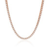 14k Rose Gold 14ct Diamond Tennis Chain Hanging