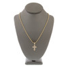 10k Yellow Gold .28ct Diamond Cross Pendant