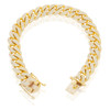 10k Yellow Gold 10.5ct Diamond Cuban Bracelet Above Detached