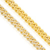 10k Yellow Gold 10.5ct Diamond Cuban Bracelet Close Up