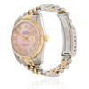 Rolex DateJust 36 Two-Tone Pink Mother of Pearl Automatic Men's Watch 116231 Bezel Crown Case Dial View Side