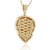 10k Yellow Gold 4.70ct Lion's Head Pendant Back